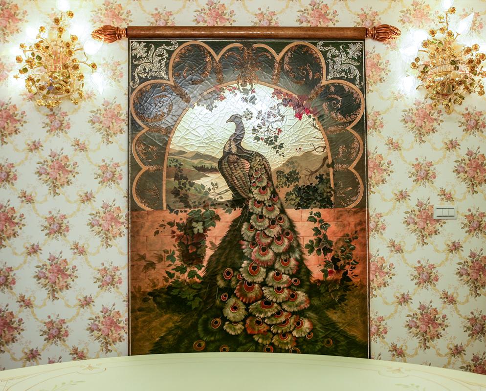 義大利客訂畫、客製壁燈、壁燈、壁紙、巴洛克
